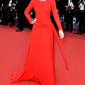 Red carpet dresses in Cannes